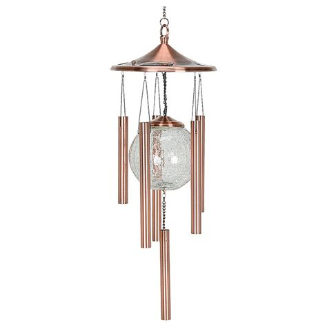 solar light wind chimes solar powered lighted wind chimes 214697 decorative