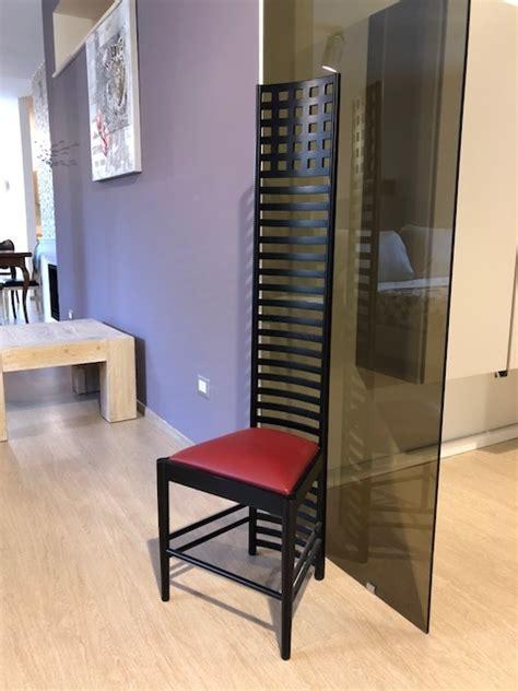 mackintosh sedia sedia di design mackintosh steel line con schienale in
