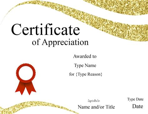 Certification Of Appreciation Templates by Certificate Templates