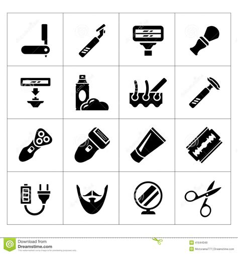 Hairstyle Tools Designs For Silhouette Cutting by Barber Tools And Haircut Icons Set Vector Illustration