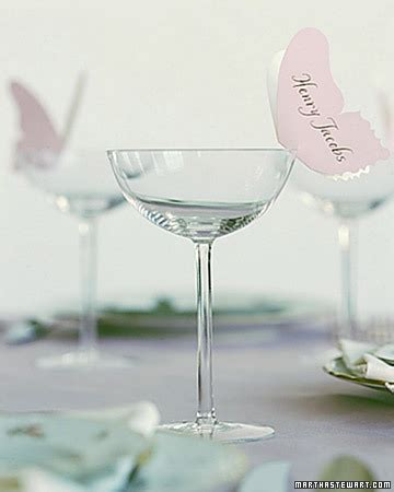 butterfly place cards for wine glasses template gentle landings floaty butterflies martha stewart