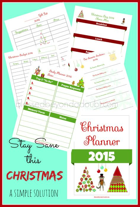 christmas planner 2015 ultimate printable holiday planning 20 tips for an amazing christmas on a budget