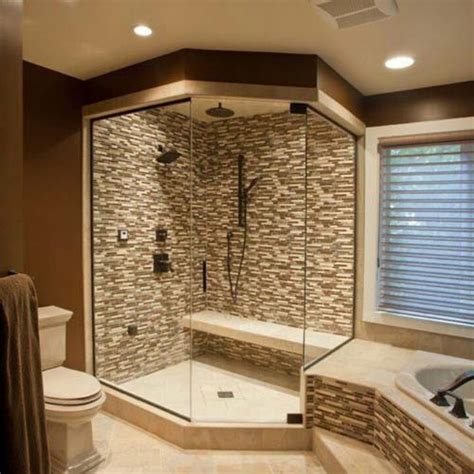 walk shower ideas latest modern bathrooms poonpo offset surround types wall bathroom tile