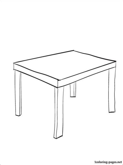 Coloring Desk For by Coloring Page Table Coloring Pages