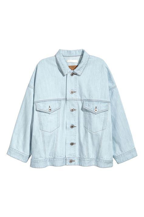 Bl Jacket Light Oversized Denim Jacket Light Denim Blue Sale H M Us