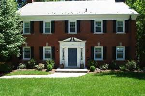 colonial brick homes door colors for red brick colonial all brick center