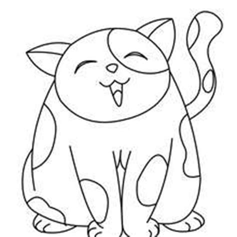 big fat cat coloring pages hellokids com