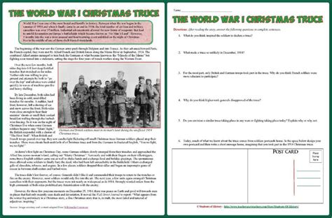libro the christmas truceeducation resources world war i christmas truce article and worksheet