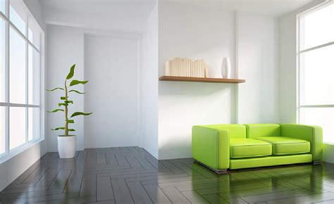 3d white interior with tender green sofa 3d house