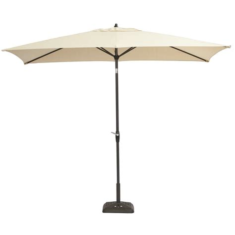 Hton Bay 10 Ft X 6 Ft Aluminum Patio Umbrella In 10 Patio Umbrella