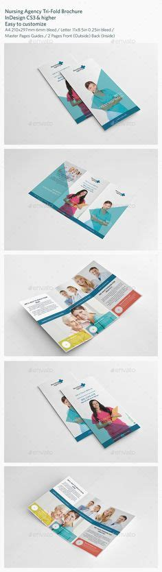 Modern Geometric Trifold Brochure Brochures Templates And Brochure Template Nursing Agency Templates