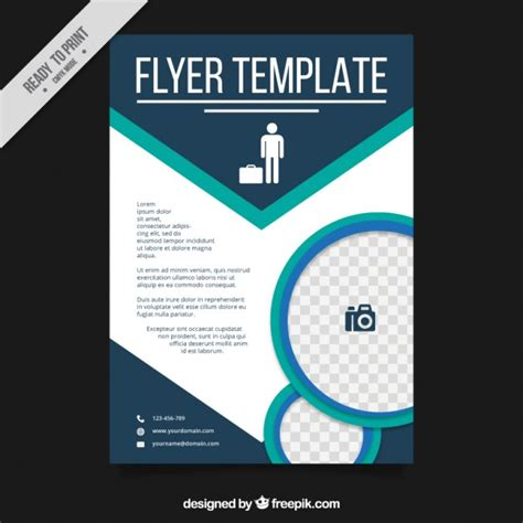 flyer template editor abstract flyer template for business vector free download