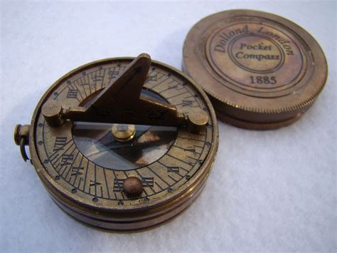 terrasse w co compass brass pocket sundial compass w lid antique finish