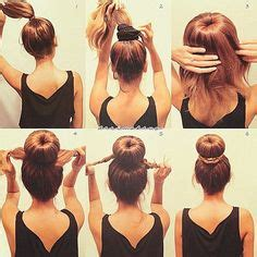 how do you put a pony tail scrunchie on short hair 1000 images about hair bun tutorials on pinterest sock