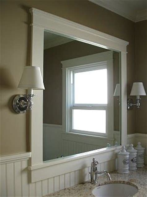 bathroom mirror trim ideas 25 best ideas about frame bathroom mirrors on pinterest