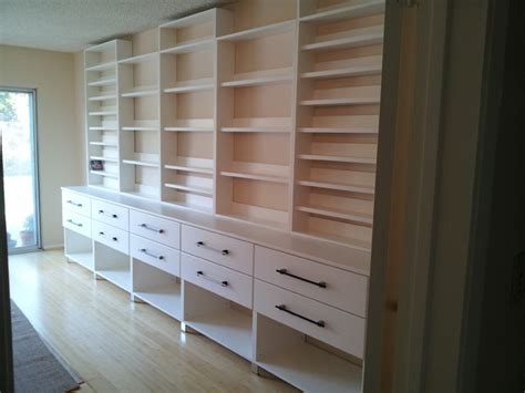 Custom Wall Unit For Cd S Books Modern Home Office Home Office Wall Cabinets