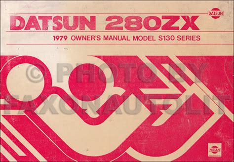 car repair manuals online pdf 1979 nissan 280zx user handbook 1979 datsun 280zx owner s manual original