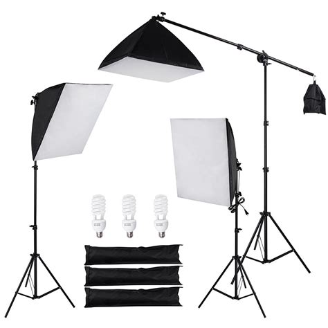 stand in the light photo studio photography 3 softbox boom light stand