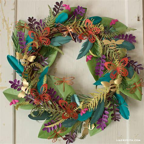 home decor wreaths make a boho botanical paper wreath easy home decor