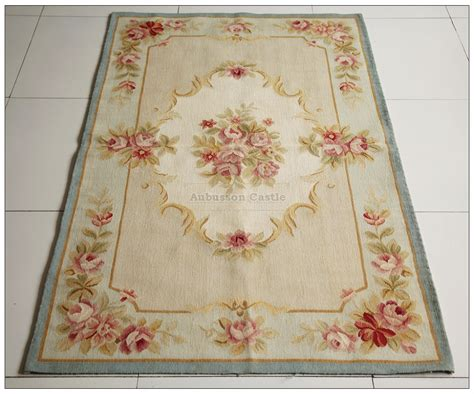 Chic Area Rugs 3x5 Light Blue Aubusson Area Rug Shabby Pink Chic Roses Wool Woven Ebay