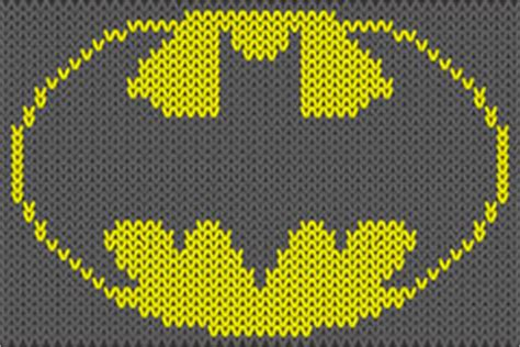 knitting pattern batman logo silhouettes athletes bodybuilding stock vector image