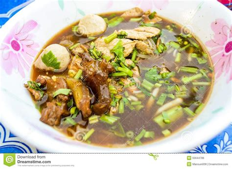 thai better food blood noodle stock photo image 55644786