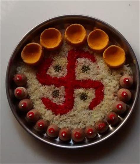 Home Decoration For Janmashtami by Pooja Ki Thali Decoration For Diwali Pooja Thali Aarti