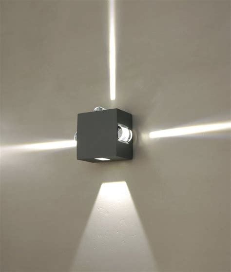 Lu Sorot 3w Outdoor Lu Sorot Outdoor Lu Sorot Taman wall luminaires with light emission on four sides led