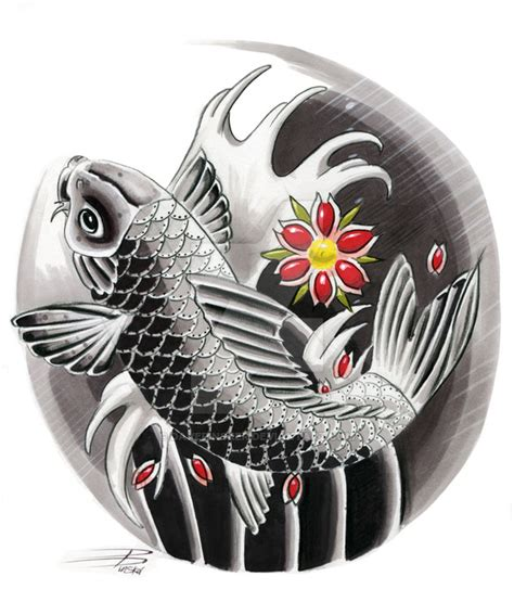 japanese koi design by davepinsker on deviantart