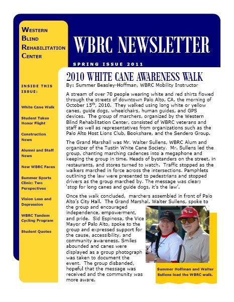 The Newsletter New Issue by Western Blind Rehabilitation Center New Issue Of Wbrc