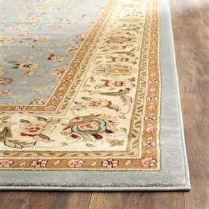 Floral Area Rugs Area Rug Traditional Floral Living Room Blue Ivory 8 X 11