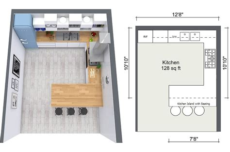 How To Design A Small Kitchen Layout 4 Expert Kitchen Design Tips Roomsketcher