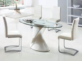 dining room stunning oval glass dining room table for