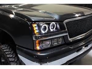 chevy silverado 2500 2003 2004 black halo projector