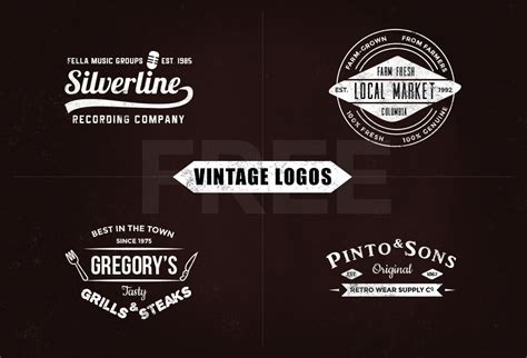 vintage style logo design photoshop free vintage logo templates vol 1 graphicsfuel