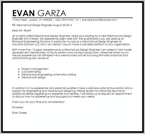 Experienced Mechanical Engineer Cover Letter by Sle Resume For Experienced Mechanical Engineer Free Pdf Resume Resume Exles