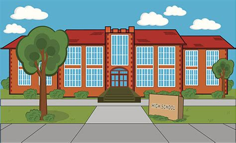 high school clip bulding clipart highschool pencil and in color bulding
