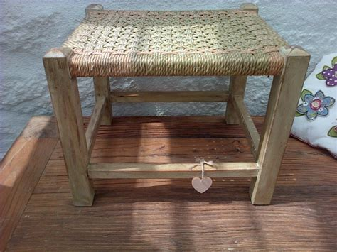 shabby chic weave footstool 163 21 99 string weave country
