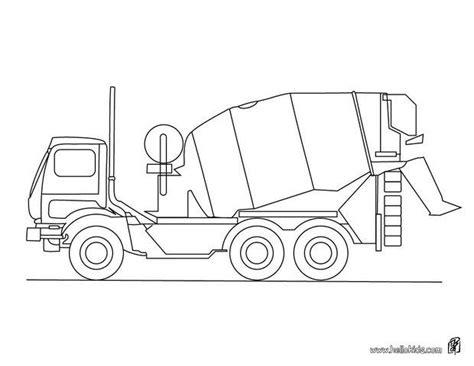 cement mixer truck coloring pages hellokids com