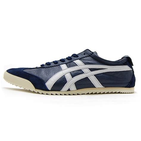 Onitsuka Tiger Mexico Deluxe Navy Nippon Made nippon made mexico 66 navy white onitsuka tiger