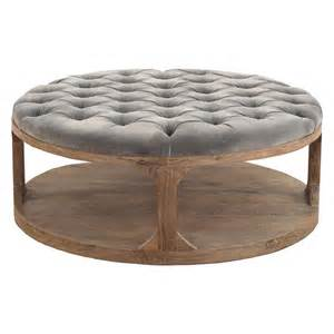 tufted table country grey tufted wood coffee table