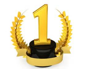 golden trophy for number one position stock photo