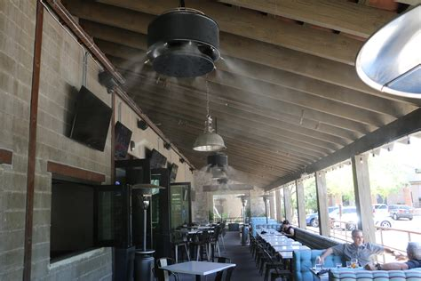 outdoor ceiling fans with misters mistamerica misting systems outdoor