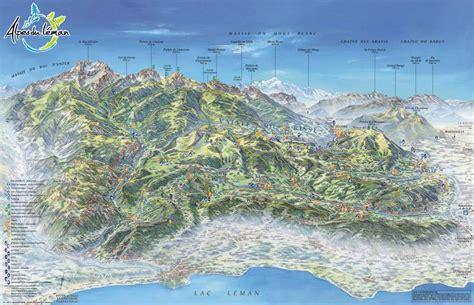 Carte des Alpes   Arts et Voyages