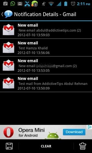 android notification history export or keep a history of notifications on android