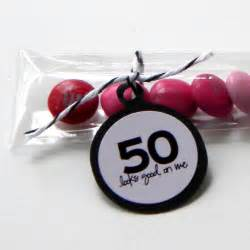 50 Birthday Favors 50th birthday favors treat bags by