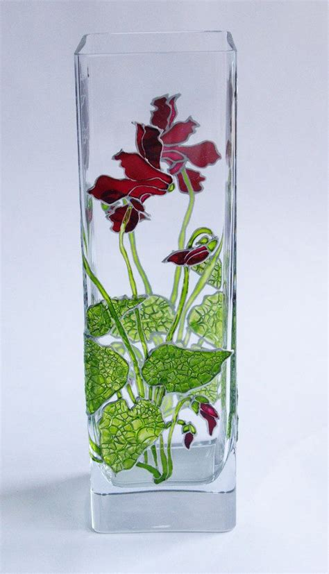 Painted Glass Vases Ideas by 25 Best Ideas About Painted Glass Vases On