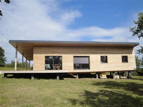 Maison En Bois maison contemporaine en ossature bois par evobois la
