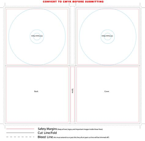 cd digi case 4 panel template for 2 cd duplication