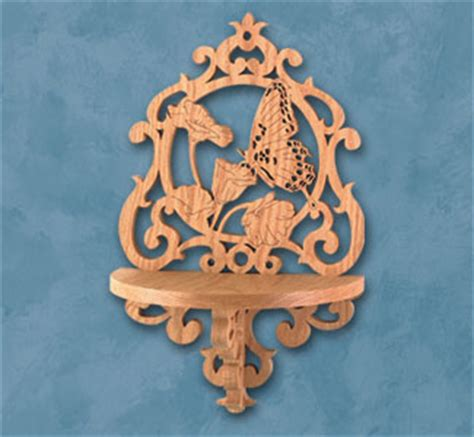 Scroll Saw Shelf Patterns by Other Bird Project Patterns Butterfly Shelf Scroll Saw
